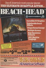 Advert for Beach Head on the Amstrad CPC.