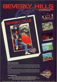 Advert for Beverly Hills Cop on the Commodore 64.