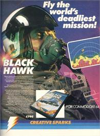 Advert for Black Hawk on the Commodore 64.