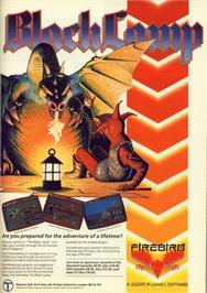 Advert for Black Lamp on the Commodore 64.