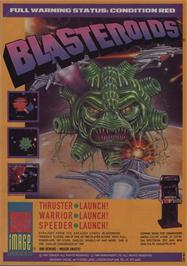 Advert for Blasteroids on the Commodore 64.