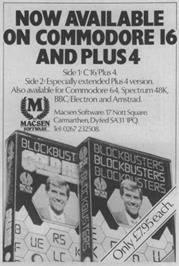 Advert for Blockbusters on the Commodore 64.