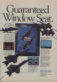 Advert for Blue Angels: Formation Flight Simulation on the Commodore 64.