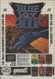Advert for Blue Max on the Commodore 64.