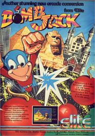Advert for Bomb Jack on the Amstrad CPC.