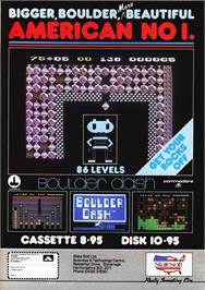Advert for Boulder Dash on the Commodore 64.