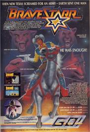 Advert for BraveStarr on the Amstrad CPC.