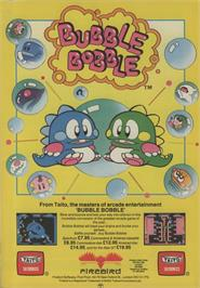 Advert for Bubble Bobble on the Commodore 64.