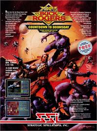 Advert for Buck Rogers: Countdown to Doomsday on the Commodore 64.