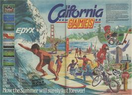 Advert for California Games on the Atari 2600.