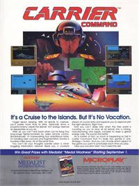 Advert for Carrier Command on the Atari ST.