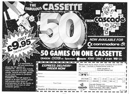 Advert for Cassette 50 on the Amstrad CPC.