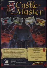 Advert for Castle Master on the Commodore 64.