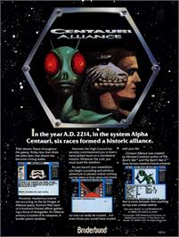 Advert for Centauri Alliance on the Commodore 64.