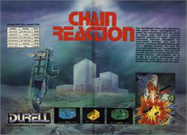 Advert for Chain Reaction on the Commodore 64.