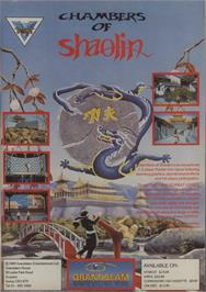 Advert for Chambers of Shaolin on the Commodore 64.