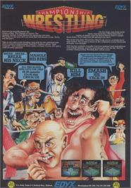 Advert for Championship Wrestling on the Apple II.