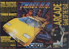 Advert for Chase H.Q. on the Commodore 64.