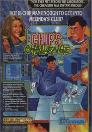 Advert for Chip's Challenge on the Commodore 64.
