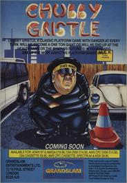 Advert for Chubby Gristle on the Commodore 64.