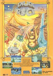 Advert for Chuck Rock on the Commodore 64.