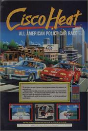 Advert for Cisco Heat: All American Police Car Race on the Commodore 64.
