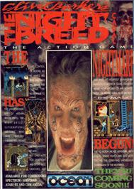 Advert for Clive Barker's Nightbreed: The Action Game on the Commodore 64.