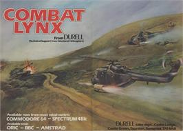 Advert for Combat Lynx on the Commodore 64.