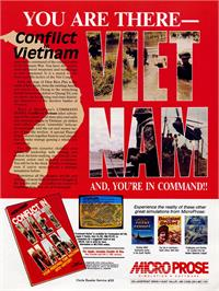 Advert for Conflict in Vietnam on the Commodore 64.
