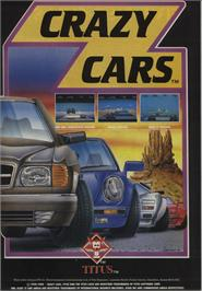 Advert for Crazy Cars on the Commodore 64.