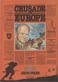 Advert for Crusade in Europe on the Atari 8-bit.