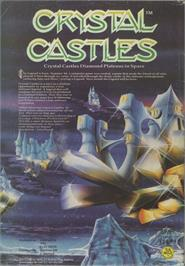 Advert for Crystal Castles on the Commodore 64.