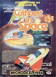 Advert for Cuthbert in Space on the Dragon 32-64.