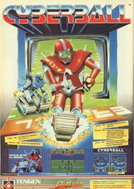 Advert for Cyberball on the Commodore 64.