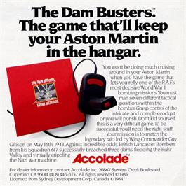 Advert for Dam Busters on the Commodore 64.