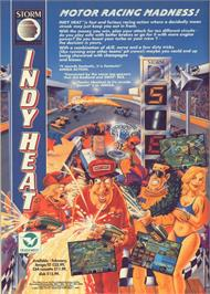 Advert for Danny Sullivan's Indy Heat on the Commodore 64.