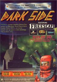 Advert for Dark Side on the Commodore 64.