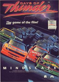Advert for Days of Thunder on the Commodore 64.