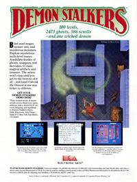 Advert for Demon Stalkers on the Commodore 64.