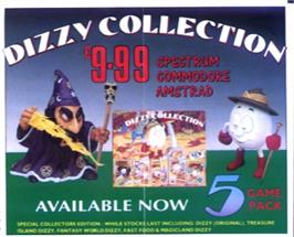 Advert for Dizzy Collection on the Commodore 64.