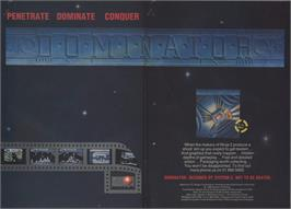 Advert for Dominator on the Commodore 64.