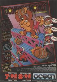Advert for Donkey Kong on the Commodore 64.