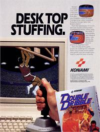 Advert for Double Dribble on the Commodore 64.