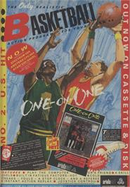 Advert for Dr. J and Larry Bird Go One on One on the Commodore Amiga.