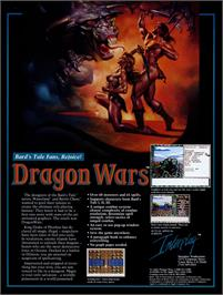 Advert for Dragon Wars on the Apple II.