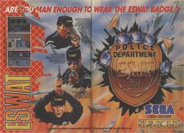 Advert for E-SWAT: Cyber Police on the Sega Nomad.
