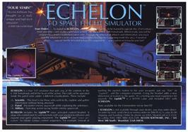 Advert for Echelon on the Amstrad CPC.