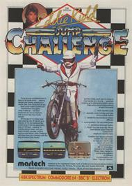 Advert for Eddie Kidd Jump Challenge on the MSX 2.