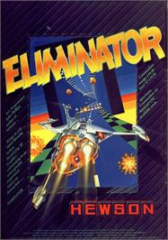 Advert for Eliminator on the Commodore 64.