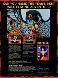 Advert for Elvira II: The Jaws of Cerberus on the Commodore 64.